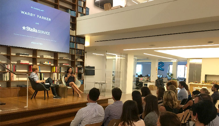 Mara Castro from Warby Parker Fireside Chat with StellaService